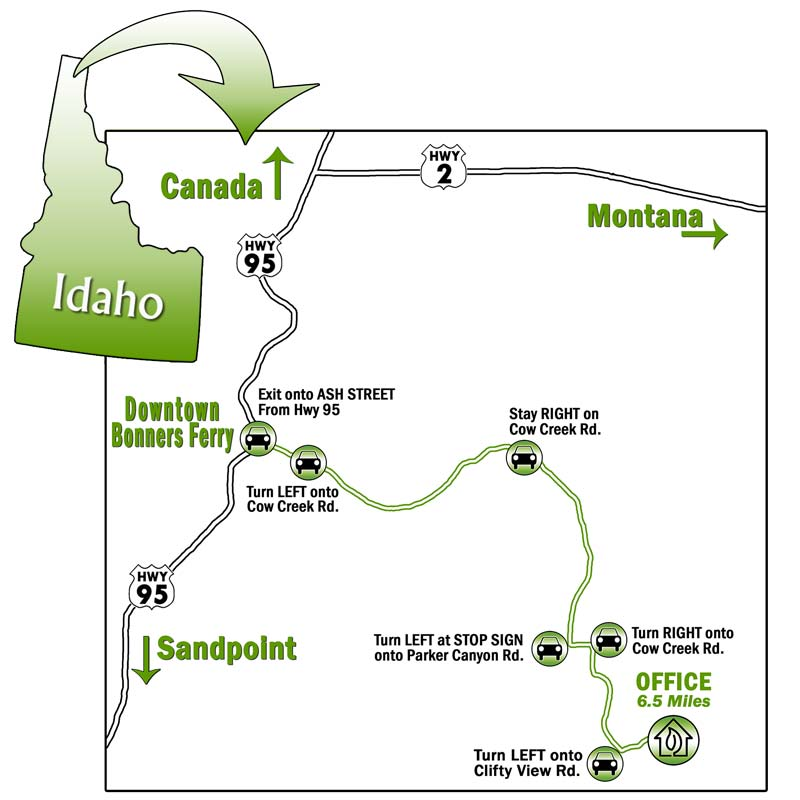 Map to Clifty View Nursery